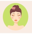 girl portrait for spa ads or brochure vector image
