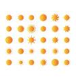 Set of sun vector image