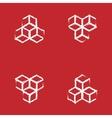 set of geometric cube Fashion graphic design vector image
