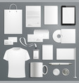 accessory templates for business branding vector image vector image