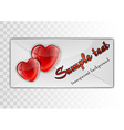 heart card transparent sample text vector image vector image