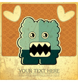 Monster on grunge background vector image vector image