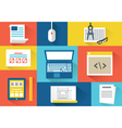 set of equipment for programing Flat style design vector image