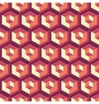 Honeycomb background 3d Mosaic vector image