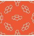Orange chat conference pattern vector image