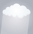 raining cloud vector image vector image