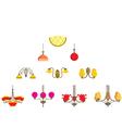 Set of chandeliers vector image