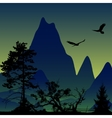 landscape Panorama of mountains Flying vector image