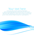Abstract wavy background in blue vector image