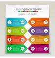 Banner infographic template vector image