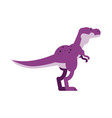cute cartoon purple tyrannosaurus dinosaur vector image