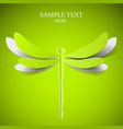 Green dragonfly vector image