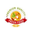 premium quality 1969 fresh food logo template vector image