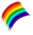 Rainbow banner from the brush strokes vector image