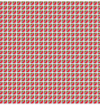 Red pattern square vector image