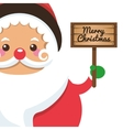 santa claus holding sign icon vector image