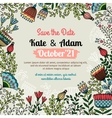Save the date card with floral pattern vector image