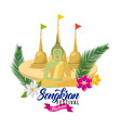Songkran festival thailand landmark buddhism vector image