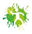 athlete sport watercolor splash figure silhouette vector image