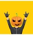 Rock n roll Happy halloween greeting card vector image