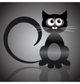 black cat vector image vector image