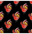 Seamless pattern with color fire cock Chinese vector image
