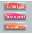 set of abstract sale banners with glass elements vector image