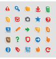 Sticker icons for interface vector image