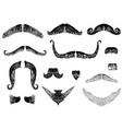moustaches vector image vector image