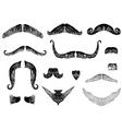 moustaches vector image