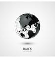 Black Globe vector image