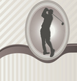 ornament frame and golf vector image vector image