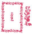 flower frame pink 2 380 vector image