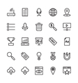 SEO and Marketing Outline Icons 4 vector image