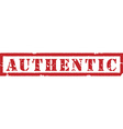 Authentic red stamp vector image