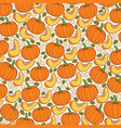 background pattern with pumpkins vector image