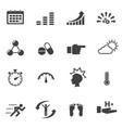 healthy icon set vector image