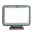 monitor screen technology with electronic vector image