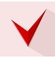 Red Check mark for design Stock vector image