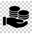 Salary Hand Icon vector image