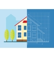 technical drawing house vector image
