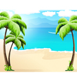 Tropical coast vector image