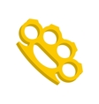 Yellow knuckles icon flat style vector image