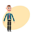 man character creation set with head body arm vector image