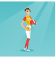 young caucasian female rugby player vector image vector image