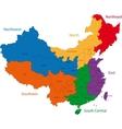 Colorful China map vector image
