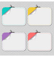 blanks advertising coupon cut from sheet of paper vector image