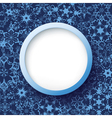 Abstract winter frame with snowflakes vector image