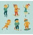 Winter sports vector image