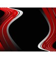 Abstrack wave red and black background vector image